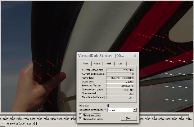 Deshaker scanning a file