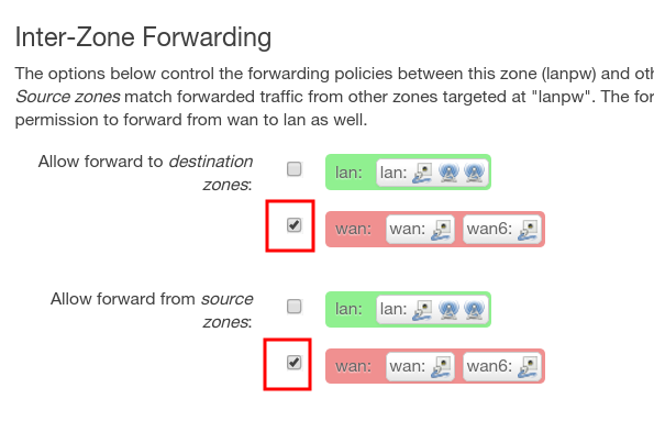 inter-zone-forwarding